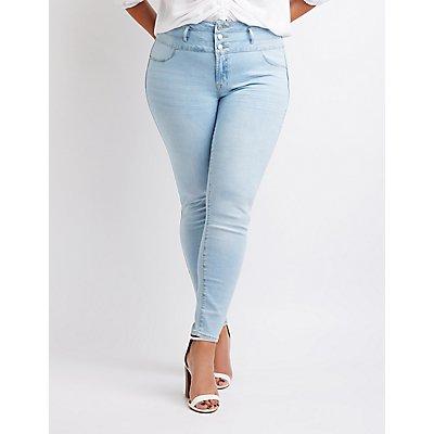 Plus Size Hi Waist Skinny Jeans