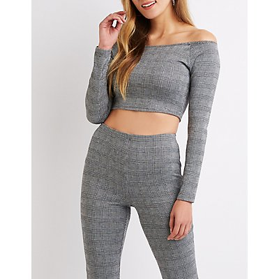 Plaid Crop Top by Charlotte Russe