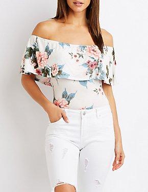 Floral Off The Shoulder Bodysuit