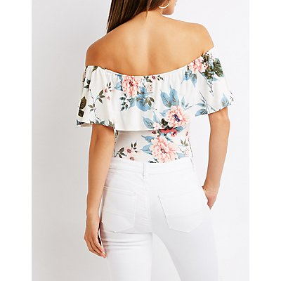 Floral Off The Shoulder Bodysuit