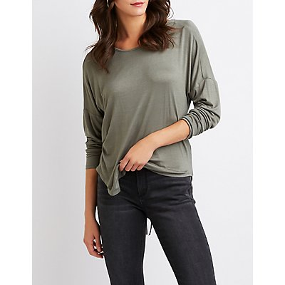 Ruched-Back Top