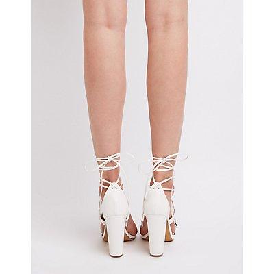 Lace-Up Ankle Wrap Sandals
