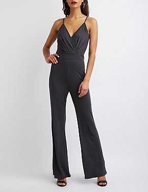 Surplice Wide Leg Jumpsuit