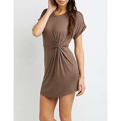 Skimmer Knot T-Shirt Dress