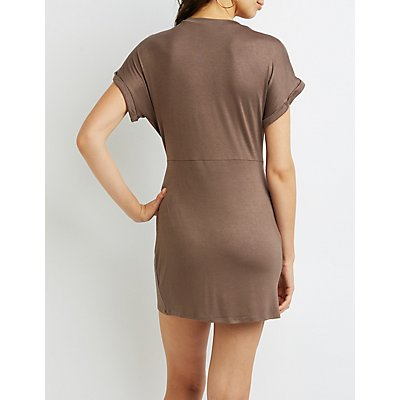 Skimmer Knot T-Shirt Dress