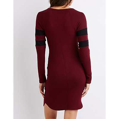 Varsity Stripe Sweater Dress