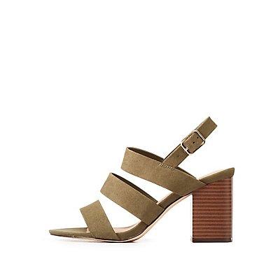 Caged Block Heel Sandals