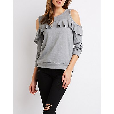 Cold Shoulder Pullover Sweater