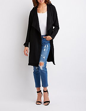 Draped Open-Front Jacket