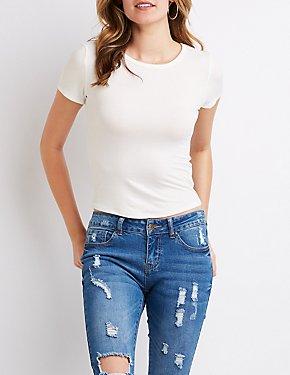 Camiseta al cuerpo de tejido acanalado