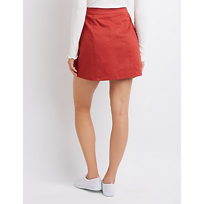 Corduroy Zip-Up Skirt