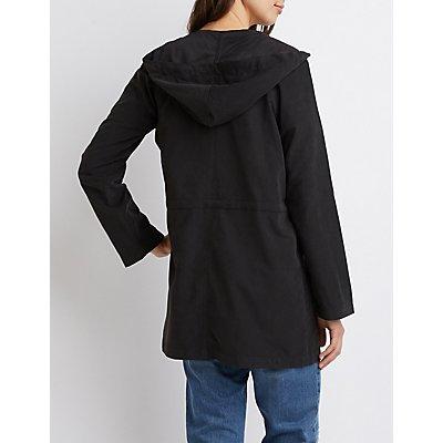 Lightweight Hooded Anorak Jacket