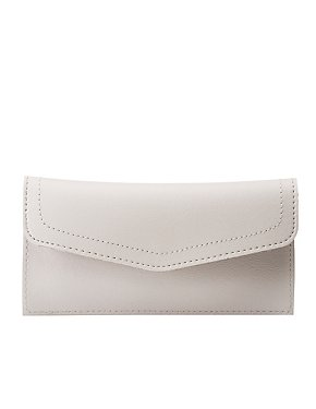 Faux Leather Flap Wallet