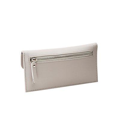 Faux Leather Flap Wallet