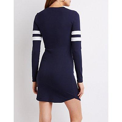 Varsity Stripe T-Shirt Dress
