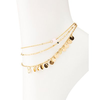 Bead & Chain Anklet Set