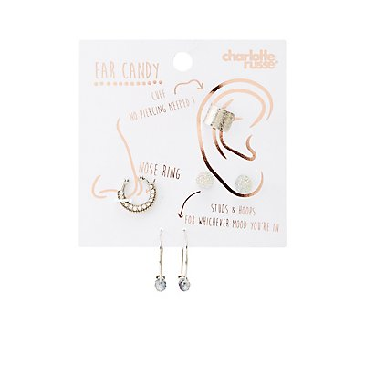 Crystal & Bead Jewelry Set - 4 Pack