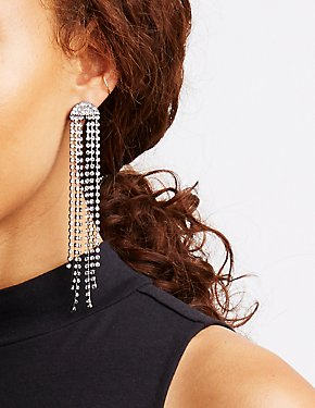 Rhinestone Stud & Drop Earrings