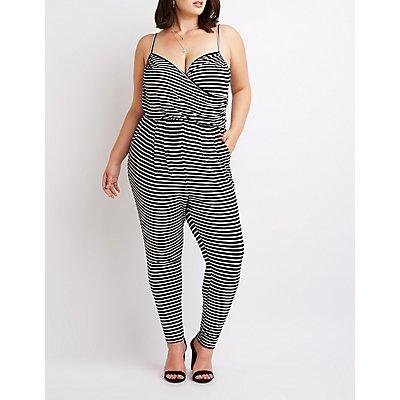 Plus Size Striped Jumpsuit
