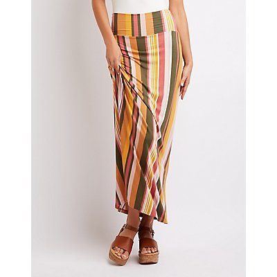 Striped Maxi Skirt
