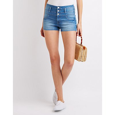 Refuge High-Waist Shortie Shorts