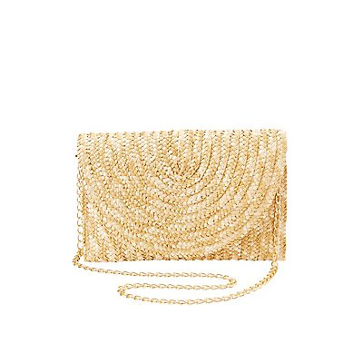 Straw Flap Clutch
