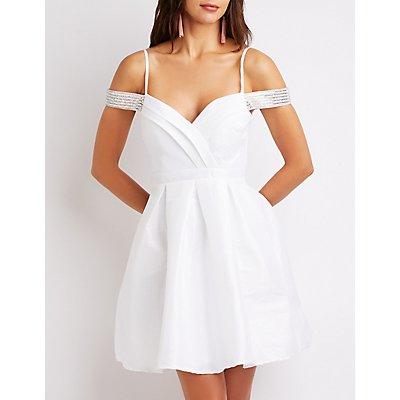 Crystal Off-The-Shoulder Dress