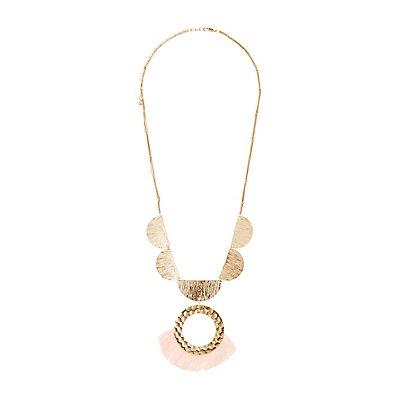 Tassel Fringe Pendant Necklace