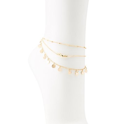 Oval Chain Anklet at Charlotte Russe in Cypress, TX | Tuggl