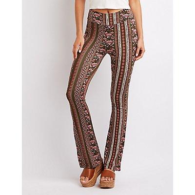 Paisley Print Flare Pants