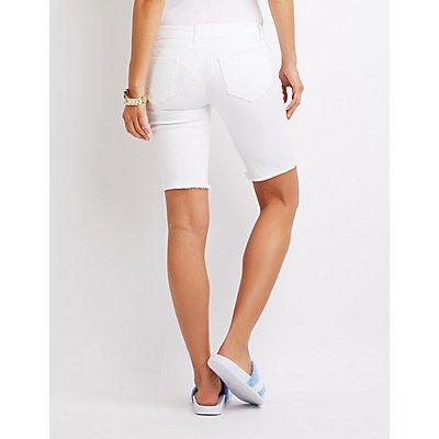Destroyed Bermuda Shorts