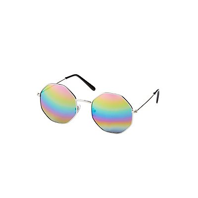 Metal Hexagon Frame Sunglasses