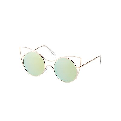Metal Cat Eye Sunglasses