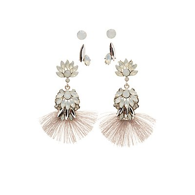 Embellished Stud & Tassel Earrings - 3 Pack