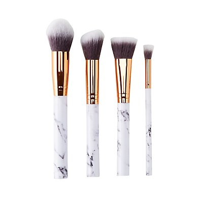 Marble Make-Up Brushes - 4 Pack
