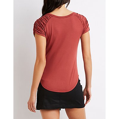 Ruched Fitted Tee