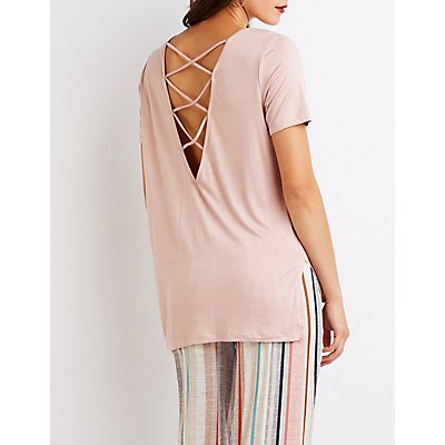 Strappy Caged-Back Tee