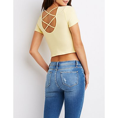 Caged-Back Crop Top