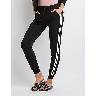 Striped Knit Jogger Pants