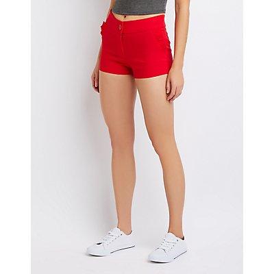 Ruffle-Trimmed Shorts