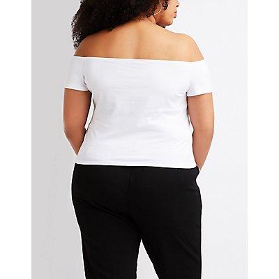 Plus Size Off The Shoulder Top