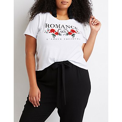 Plus Size Printed Graphic Tee