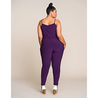 Plus Size Wrap Jumpsuit