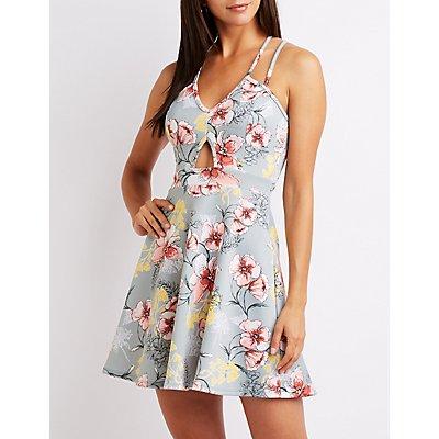 Floral Strappy Skater Dress