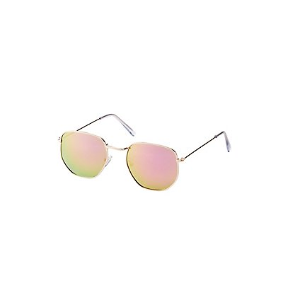 Metal Frame Round Sunglasses