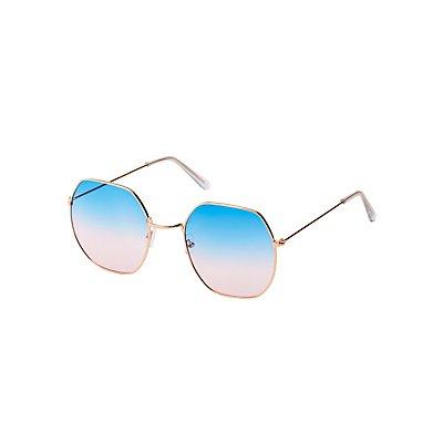 Metal Square Sunglasses
