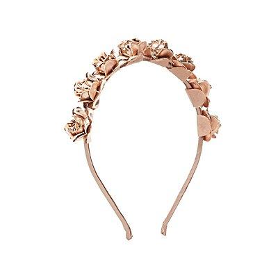 Metallic Flower Headband