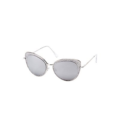 Glitter Cat Eye Sunglasses