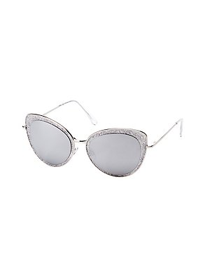 Glitter Cat Eye Sunglasses