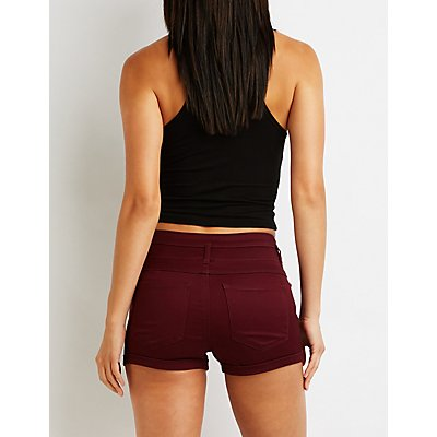 Refuge High Rise Shortie Shorts
